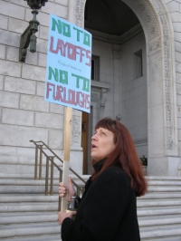 FACE ITT: Feminists Against Budget Cuts Especially in Tough Times Demonstrate At  SF