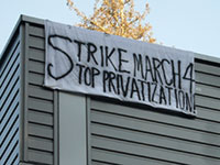 UCSC Banner Drop to Mobilize for March 4th