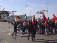 Labor and Community Picket of an Israeli Zim Line Ship