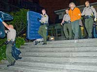 Attorney Ed Frey Arrested on 35th Night of Santa Cruz Peace Camp 2010