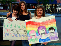 "Community Members ""Break the Silence"" at LGBQT Youth Rally in Santa Cruz"