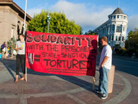 Santa Cruz Rally for California Hunger Strike Anniversary