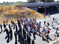 Protesters Block Highway 101 Demanding Justice for Andy Lopez