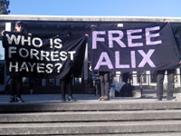 Demonstration at Santa Cruz County Superior Court for Alix Tichelman
