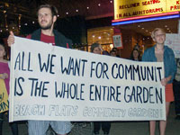 Hundreds March for Beach Flats Community Garden