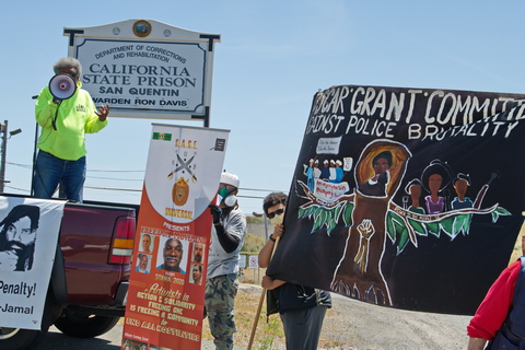 San Quentin Gets Car Caravan Protest