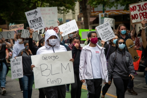 Bay Area Protests George Floyd Murder, Police Respond with Tear Gas and Rubber Bullets