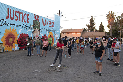 Justice for Vanessa Mural and Vigil in Fresno