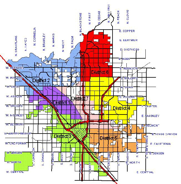 City Fresno City Map