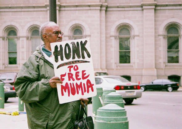 honk for mumia by Hans Bennett