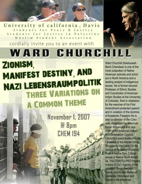 Ward Churchill Speaks UC Davis 11 1 Indybay