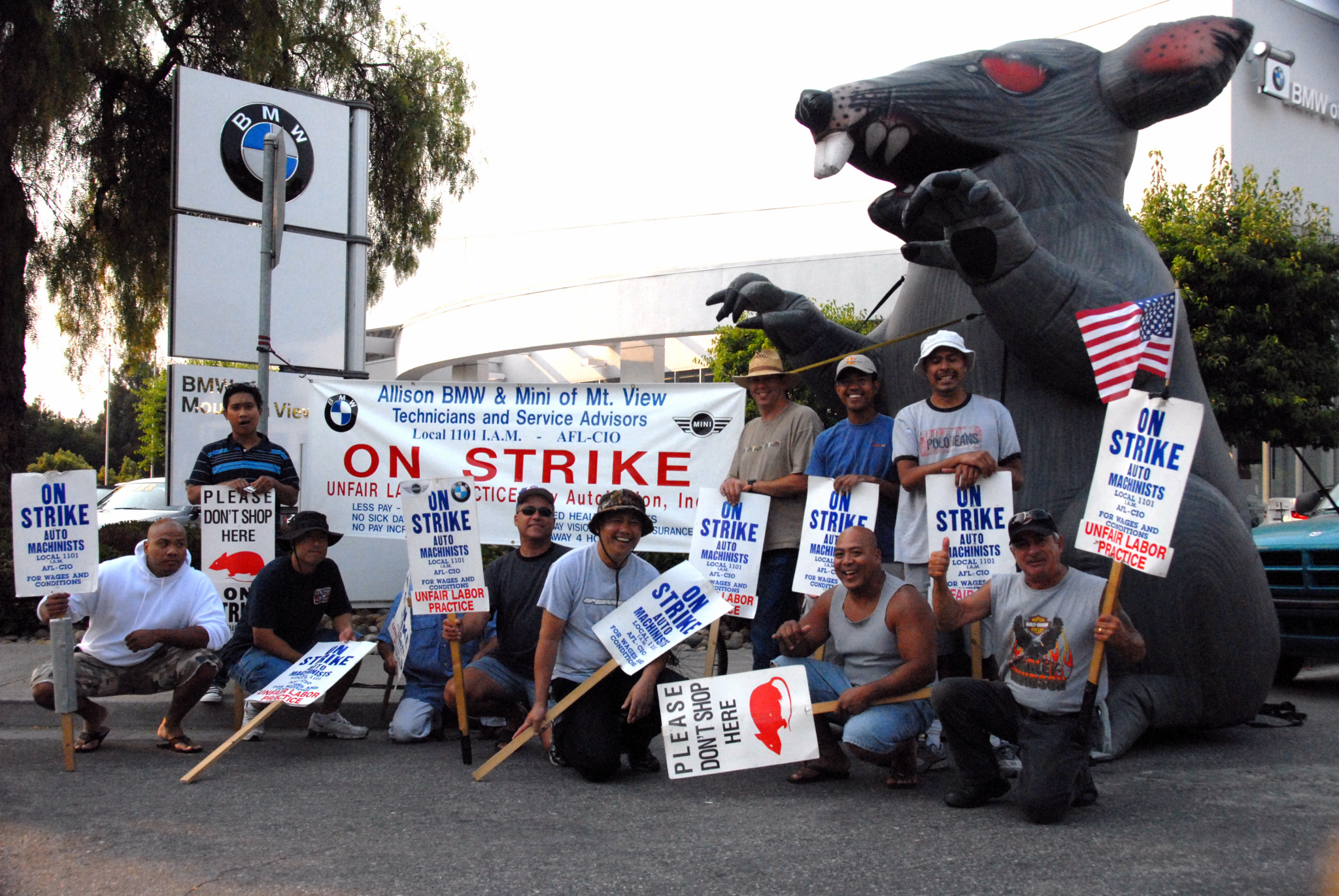 Bmw Mountain View >> Strike At Allison Bmw In Mountain View Indybay