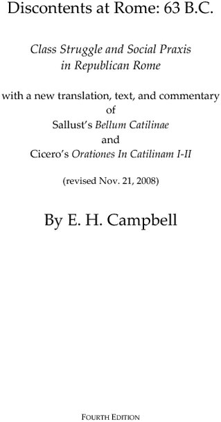 Bellum catilinae testo latino dating