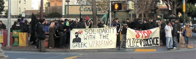 Solidarity march in San Francisco for Greece