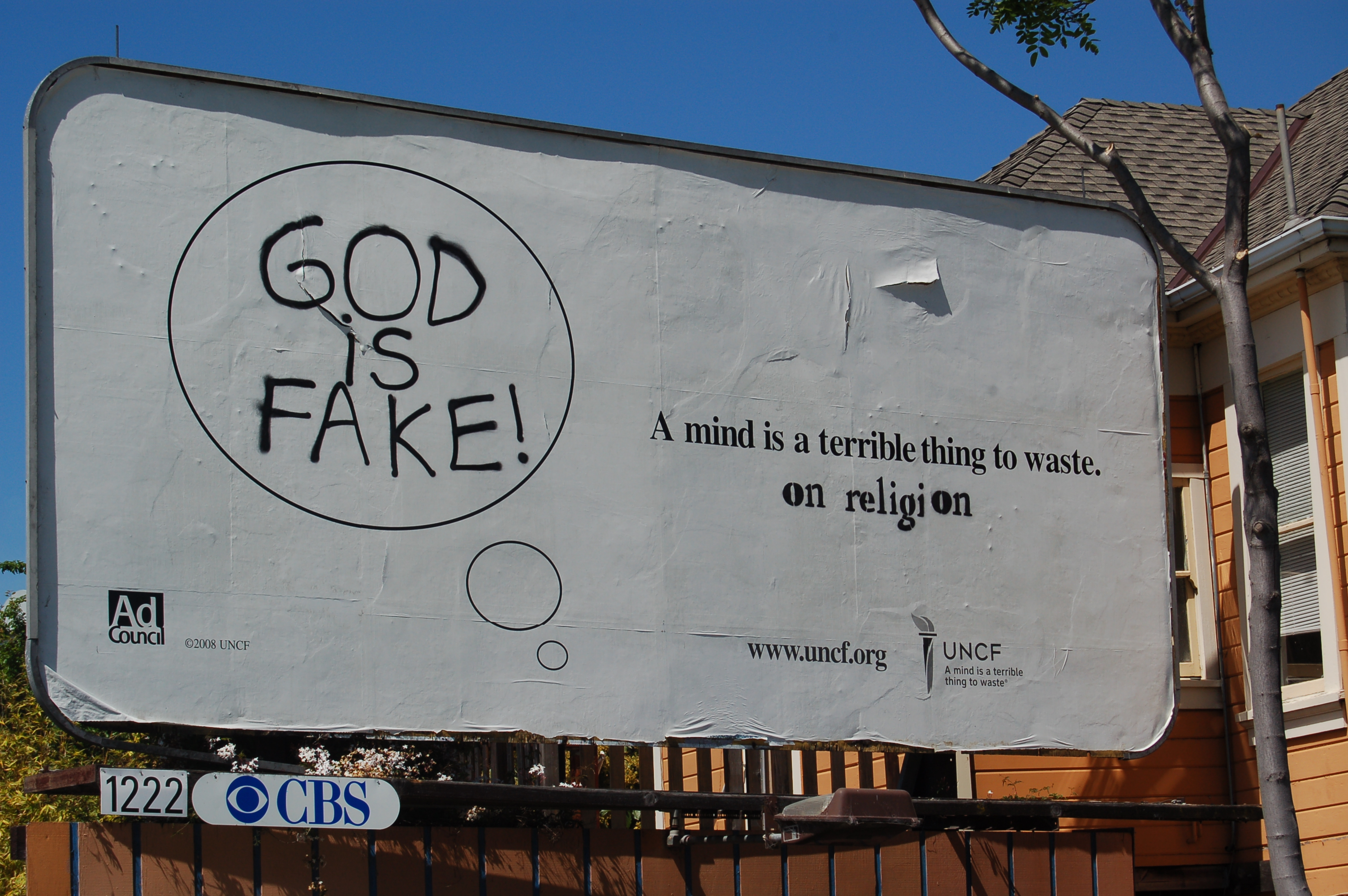 God is fake, ad correction- MLK by Ashby Bart station : Indybay