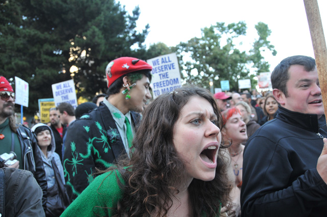 Thousands of people took to the streets of San Francisco in opposition to ...