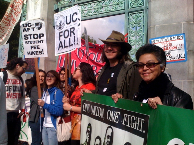 Student and Faculty activists at UC Berkeley