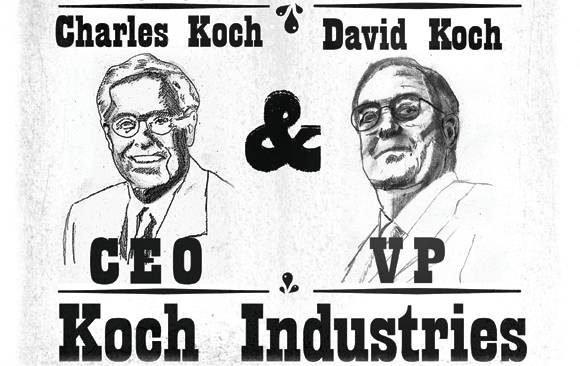 Koch industries top funder of climate denial and for David charles koch