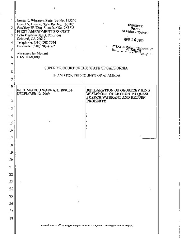 discussion of search warrants and probable Three of four search warrants gave the  affidavit did not furnish probable cause for search of the  at pp 95-96 there is discussion of indications of.