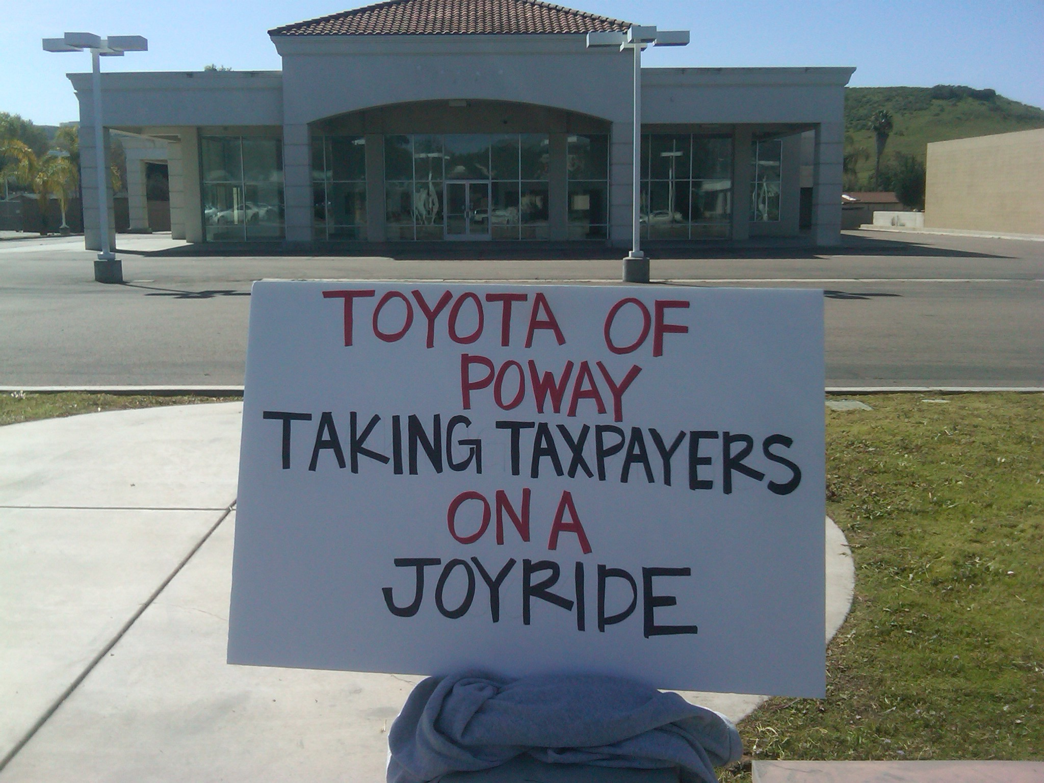 Toyota Of Poway Takes Your Redevelopment Money Poway Schools Forced