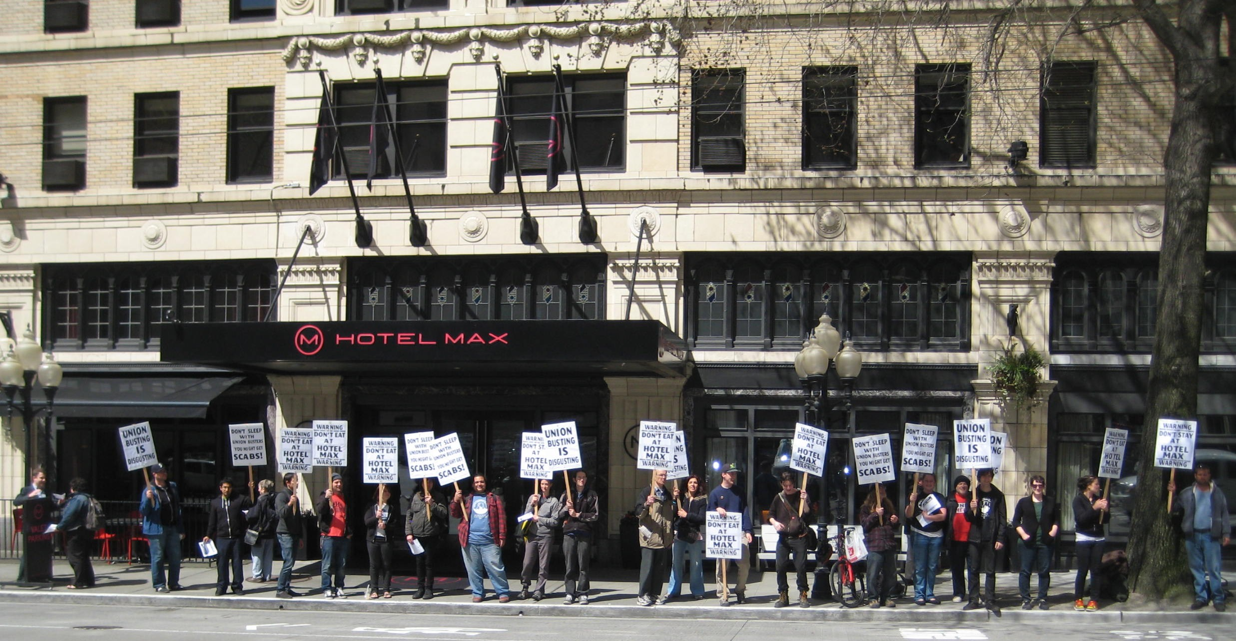 Hotel Max Workers Picket Provenance Hotels In Portland And Seattle To
