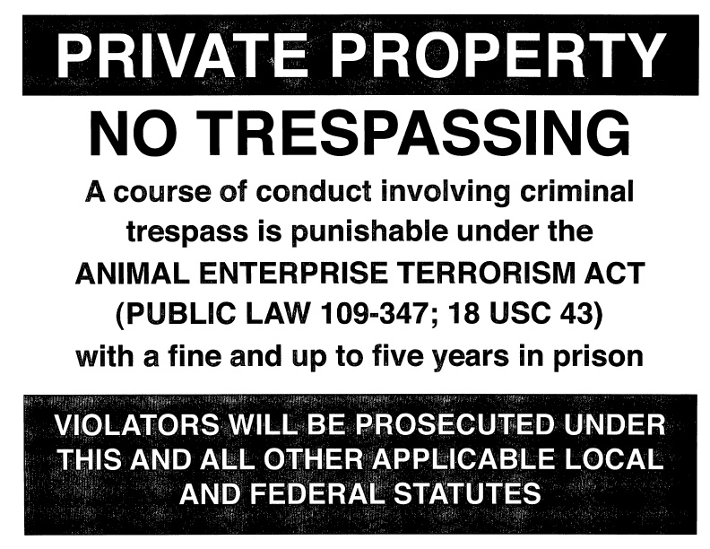 the fur commission usa issues new signs threatening animal