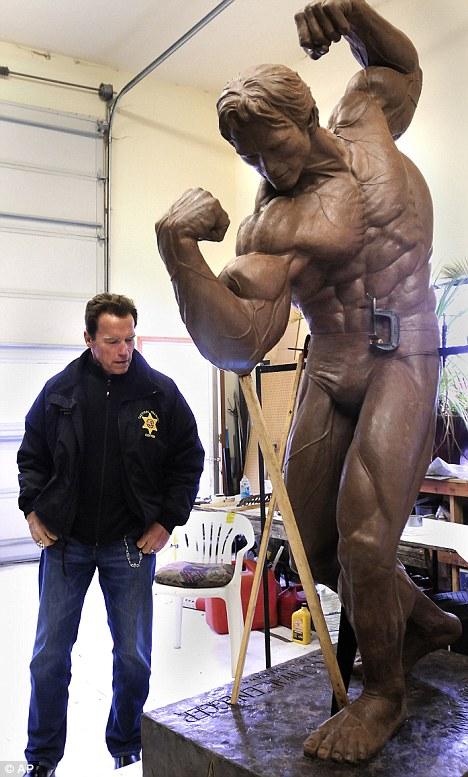 Schwarzenegger's bronze statues