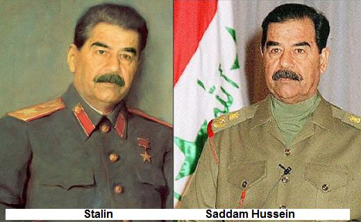 saddam vs stalin Below is an essay on hitler vs saddam hussein from anti essays, your source for research papers, essays, and term paper examples hitler and saddam hussein are both some of the world's worse dictators.