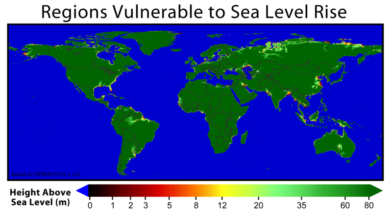 Global Warming Means Metre Sea Level Rise In The Pipeline Say - Metres above sea level