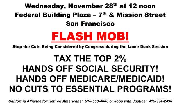 Flash Mob for Justice: Hands Off Social Security, Medicare