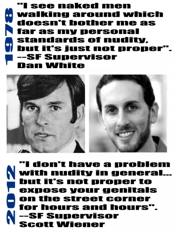 Protest Posters Comparing White and Wiener Irk San