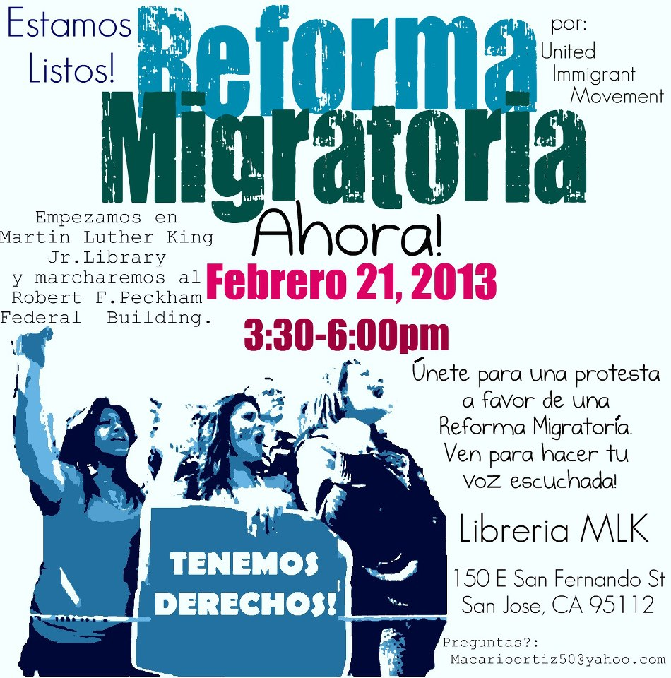Last News On Immigration Reform: Immigration Reform Now! : Indybay