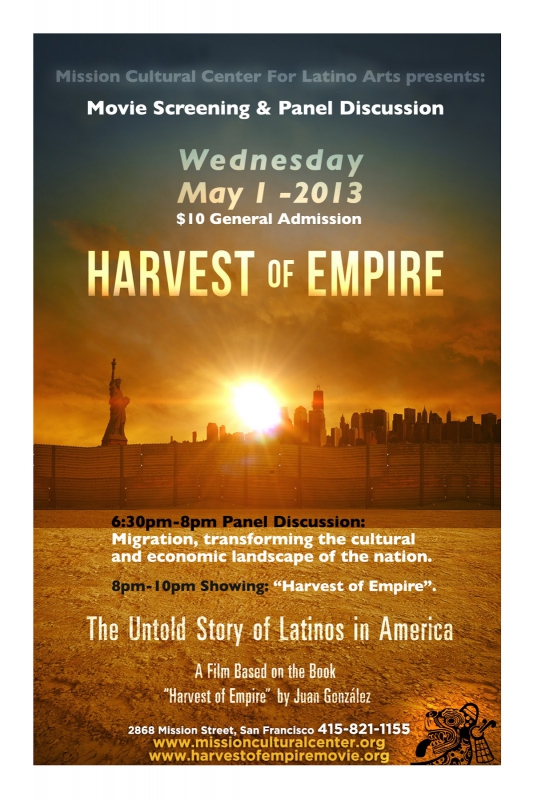 harvest of empire A feature-length documentary about the untold story of latinos in america, based on the ground-breaking book by award-winning journalist juan gonz lez offic.