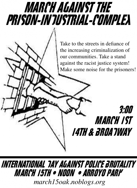 March Against The Prison-Industrial-Complex : Indybay