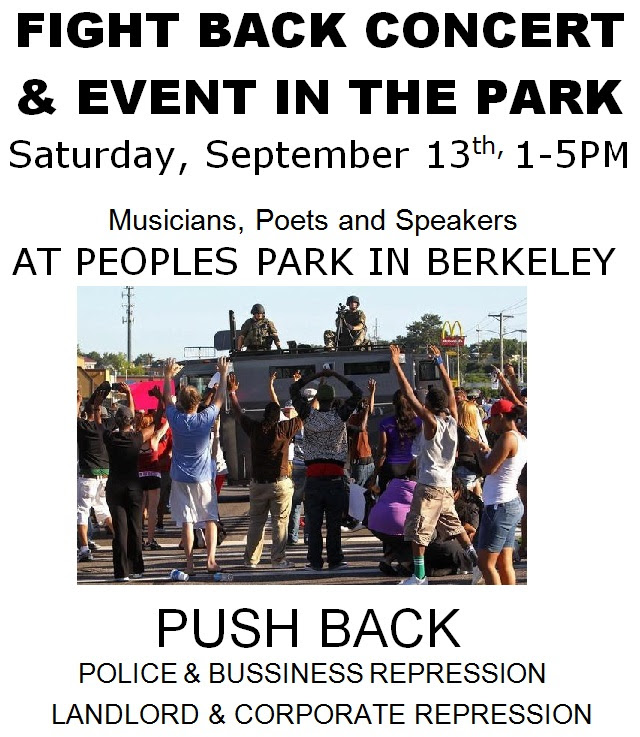 Fight Back Concert & Event at People's Park. @ People's Park | Berkeley | California | United States