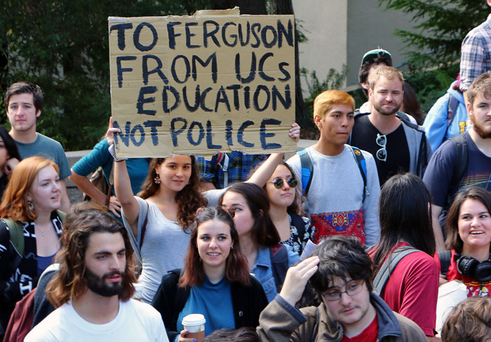 UCSC Student Walkout Ends with Rally on Roof of Administration ...
