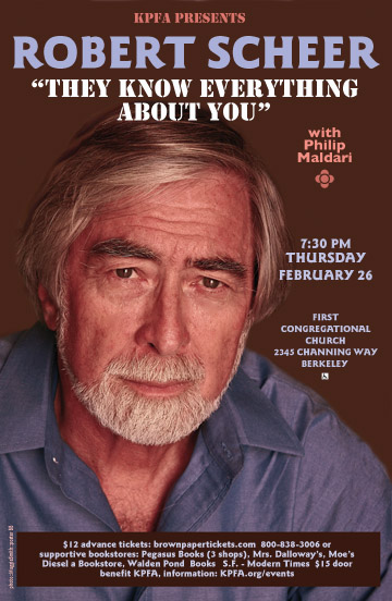 "ROBERT SCHEER:  ""They Know Everything About You"" @ First Congregational Church 