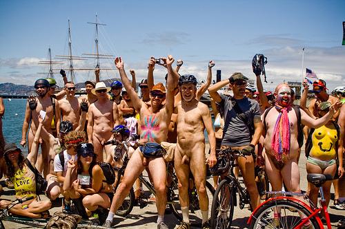Nude bike riding in san francisco