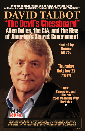 "David Talbot discusses ""The Devil's Chessboard: Allen Dulles and the Rise of America's Security State"" @ First Congregational Church 