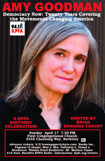 Amy Goodman: 20 Years Covering the Movements Changing America @ First Congregational Church | Berkeley | California | United States