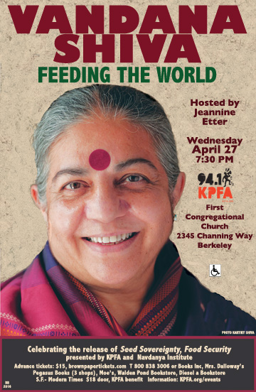 Vandana Shiva: Feeding the World @ First Congregational Church | Berkeley | California | United States