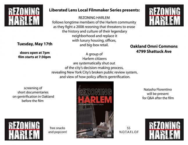 Film Screening: Rezoning Harlem @ Omni Commons | Oakland | California | United States