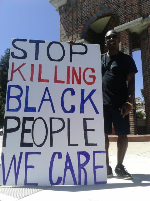 Demonstration says Enough Stop Killing Stop killing
