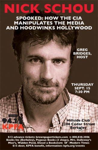 Spooked: How the CIA Manipulates Media and Hoodwinks Hollywood @ Hillside Club | Berkeley | California | United States