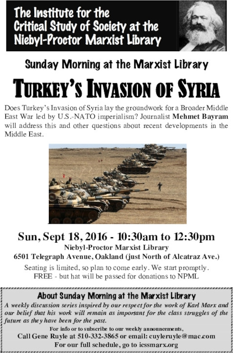 Turkey's Invasion of Syria @ Niebyl Proctor Library | Oakland | California | United States