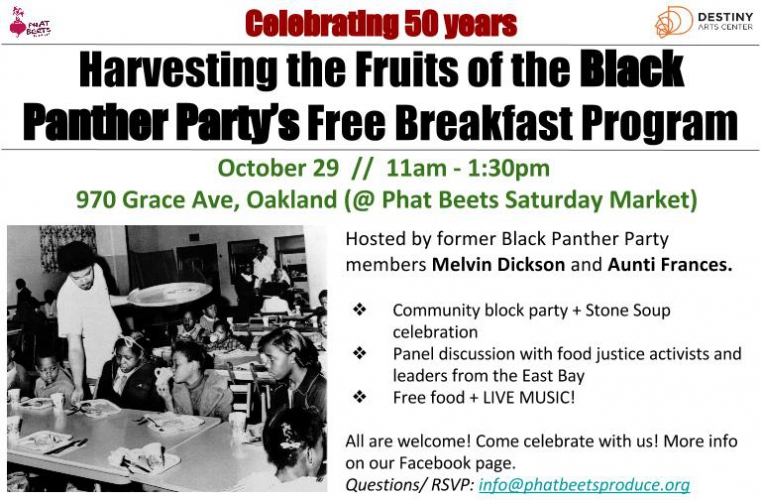 Harvesting the Fruits of the Black Panther Party's Free Breakfast Program @ Phat Beets Saturday Market | Oakland | California | United States