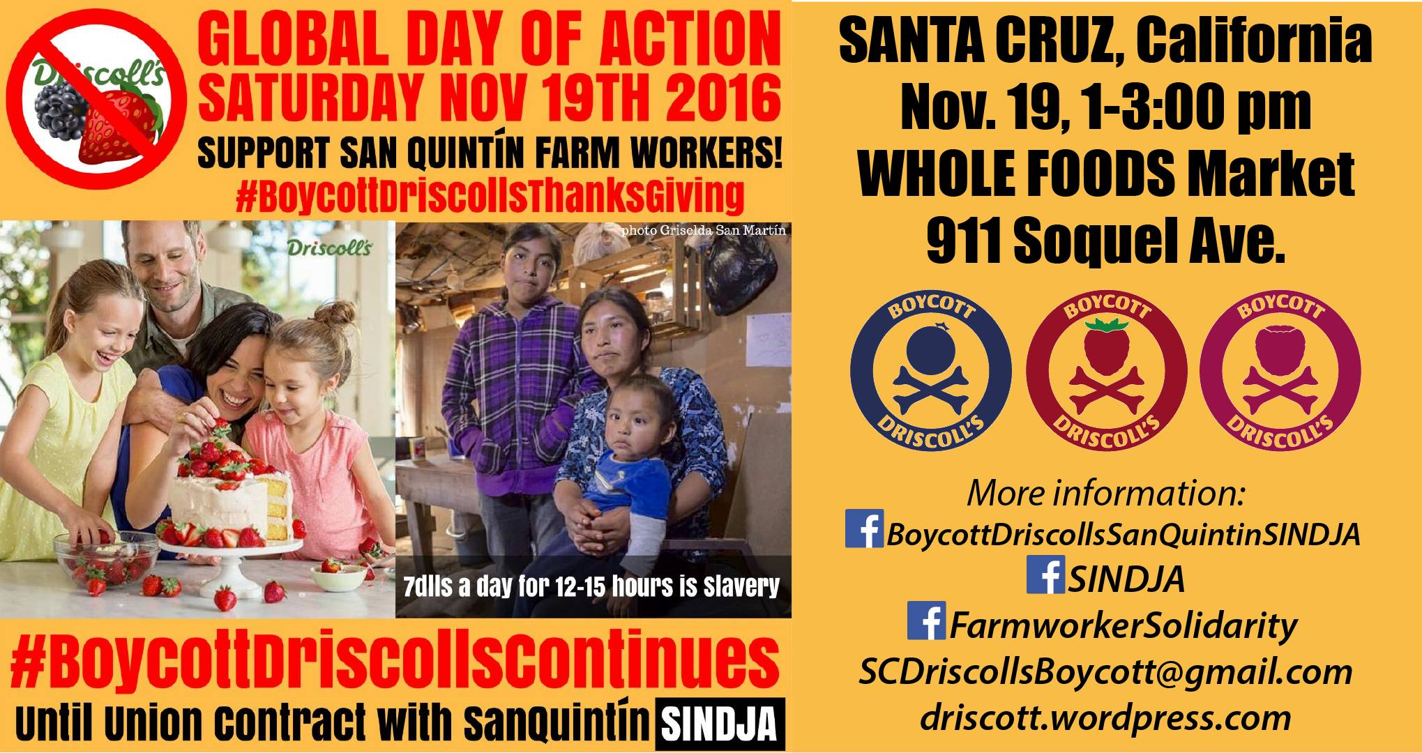 Boycott Driscoll's Day of Action in Santa Cruz : Indybay: https://www.indybay.org/newsitems/2016/11/10/18793354.php