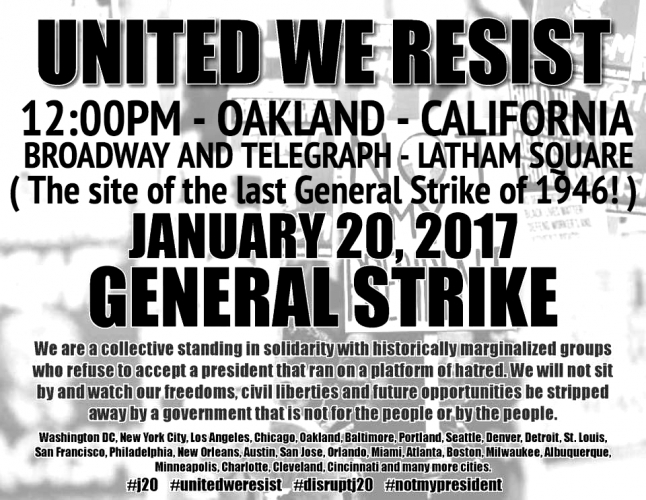 United We Resist - General Strike @ Latham Square | Oakland | California | United States