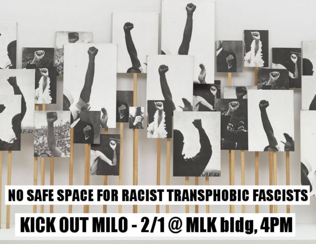 Shut Down Milo at UC Berkeley @ MLK Student Union, 2nd Floor, UC Berkeley | Berkeley | California | United States