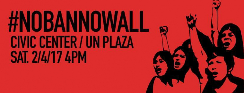 NoBanNoWall SF Protest @ UN Plaza | San Francisco | California | United States
